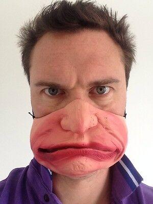 Lustig Halbes Gesicht Grumpy Alter Mann Maske Kostüm Party Mad Grimasse Maske