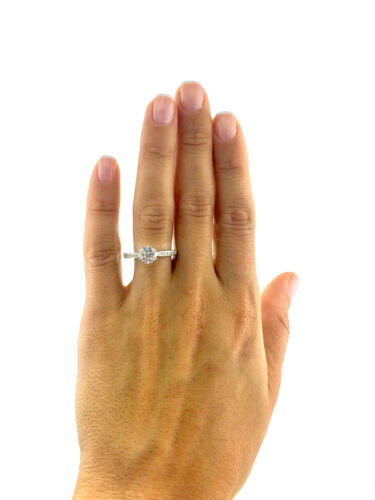 GIA CERTIFIED 2.2 Carat Round Cut F - VS2 Pave Diamond Engagement Ring sizeable 2