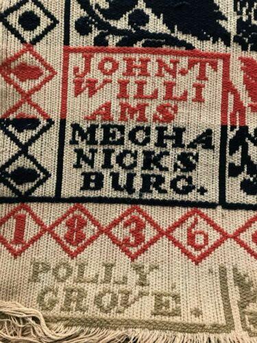 Bold PA Jacquard Coverlet John Williams Mechanicsburg Cumberland County 1836