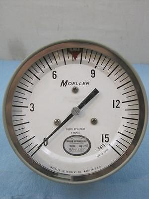 6274 Moeller Pressure Gauge Gage 15 Psi 4-12 Sga42my Used