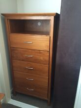 2 wooden bedside tables with matching tall boy Lutwyche Brisbane North East Preview