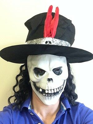 Weiß Totenkopf Maske Zylinder Tag der Toten Bond - Halloween Die Weiße Maske