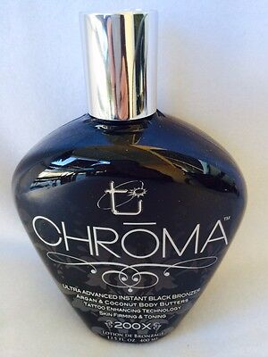 Chroma 200x Instant Black Bronzer Tanning Bed Lotion Brow...