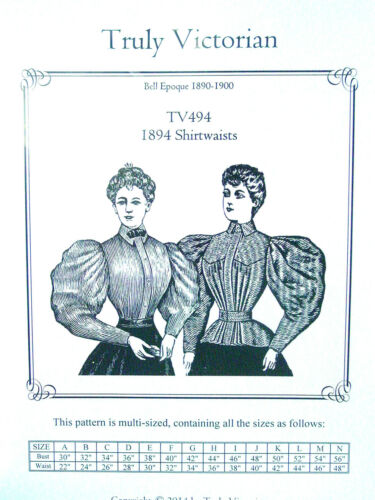 TV494 Truly Victorian Sewing Pattern for 1890