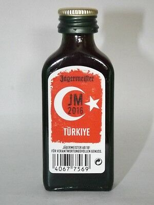 Jägermeister mini flaschen  EM 2016 Türkiye JM Sonderedition 0,02 ml 35% vol