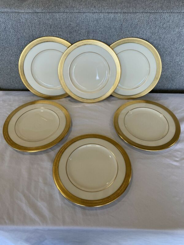 """Lenox by Lowell P-67 - 8-1/4"""" Salad Plate SET OF 6 WITH BACK STAMP"""