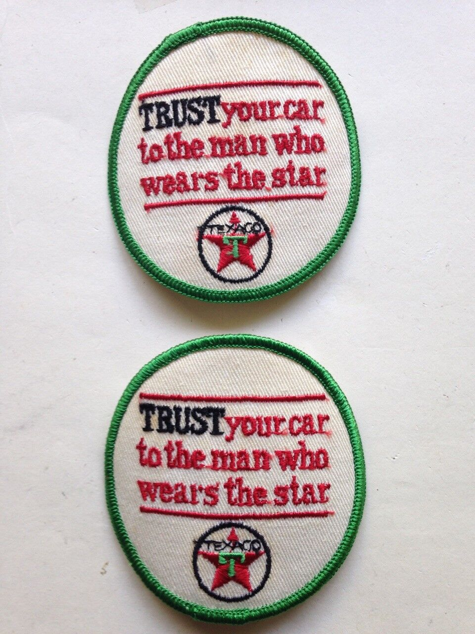 "Vintage 1-3//4/"" TEXACO Gas Station Embroidered Patch"
