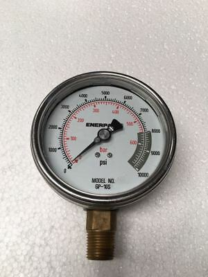 Enerpac Gp-10s Hydraulic Pressure Gauge 700 Bar10000 Psi Free Shipping