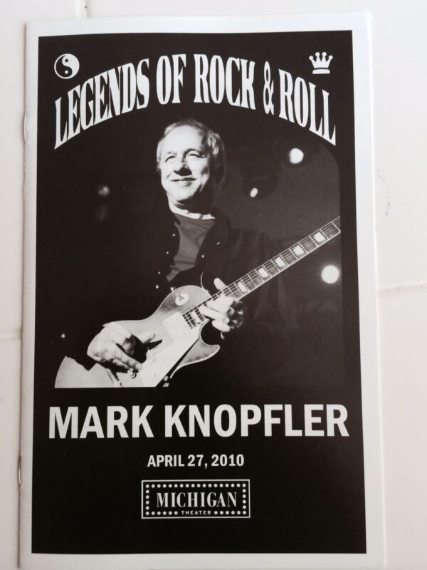 Mark Knopfler ULTRA RARE souvenir program Dire Straits April 27, 2010