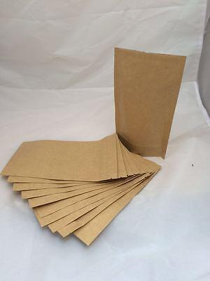 10 x BAGS KRAFT PAPER STAND UP PLASTIC BAG POUCH 20cm x 12cm