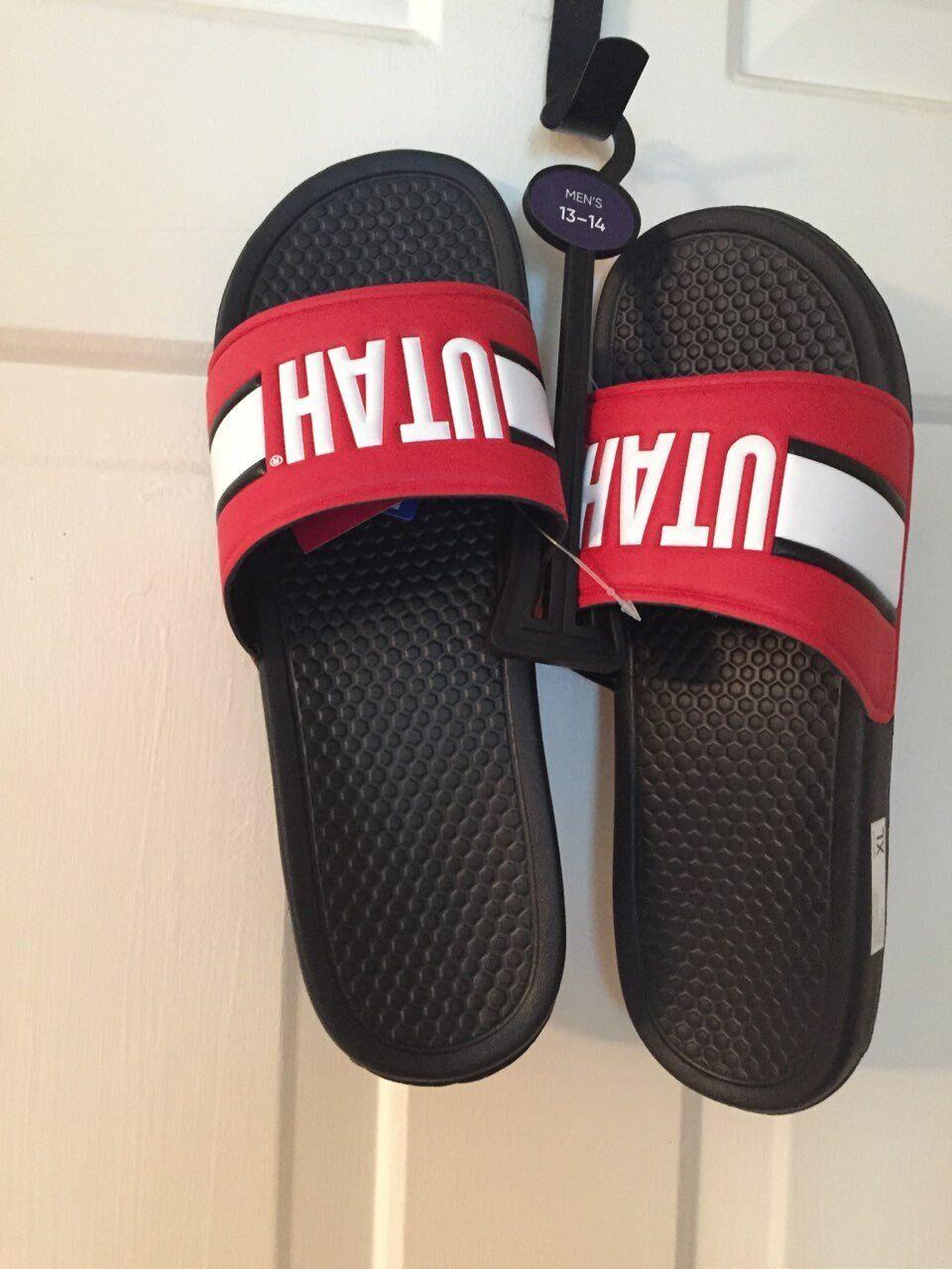 FOCO Mens Sport Shower Flip Flop Sandals Alabama Crimson Tide NCAA Wordmark Gel Slides-L