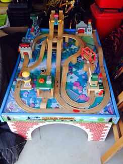 Thomas the tank engine wood train set Spearwood Cockburn Area Preview