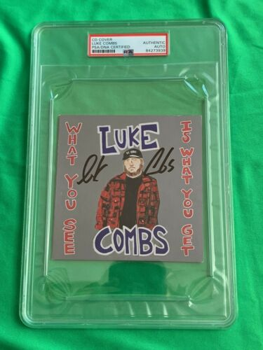 LUKE COMBS Signed CD Booklet What You See Autograph PSA/DNA Authenticated