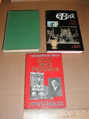 William Henry Belk Belk's Dept clothing Discount Store family History 3 Book Lot - Family Clothes Store