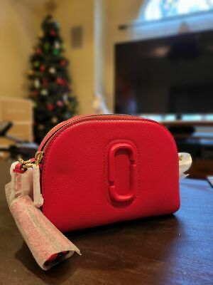 Marc Jacobs Shutter Camera Leather Crossbody Bag in Peony