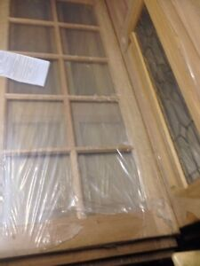 Solid maple timber internal 10 panel  glass  French doors x2 Bankstown Bankstown Area Preview