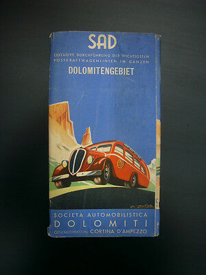 Werbeprospekt - SAD - Dolomitengebiet - 1938