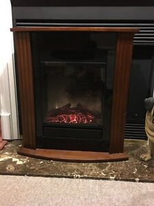 Infrared Fireplace made of hard wood