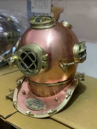 Copper Vintage Morse Scuba Divers Brass Diving Helmet US Navy Deep Marine Diver