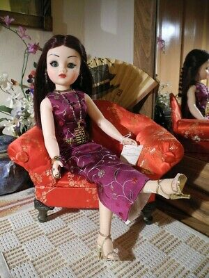 2003 FAO Schwartz LE Cissy Doll Chinoiserie #25 of 150 + Opium Pipe, Abacus 20""