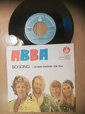 """ABBA - SO LONG  RARE YUGOSLAVIA UNIQUE MISPRINT 7""""PS ON UNIQUE RTB LABEL 1974"""