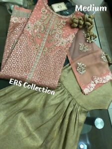 Agha Noor 3 piece suit with gharara $160