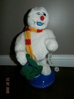 """Gemmy Frosty The Snowman Christmas Animated Dancing Spinning Snowflake 18"""" ~ WOW"""