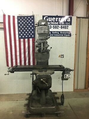 Bridgeport Milling Machine W Power Feed