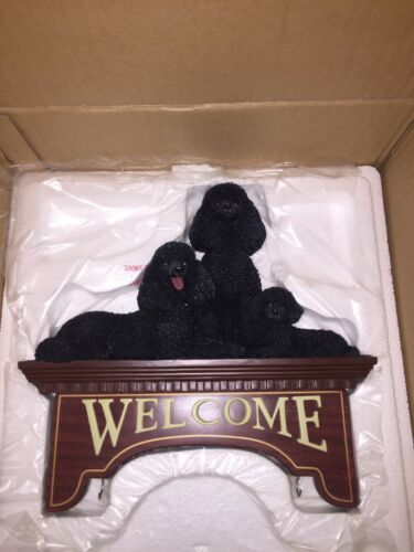 DANBURY MINT POODLE WELCOME  SIGN