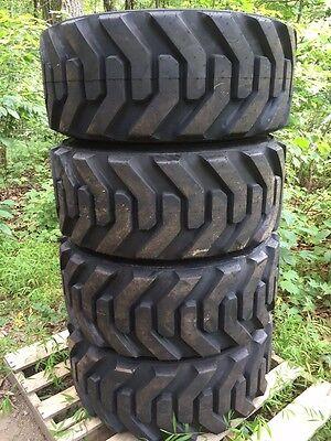 4 New Galaxy Beefy Baby Ii 14-17.5 Skid Steer Tires 14x17.5 Heavy Duty - 14 Ply