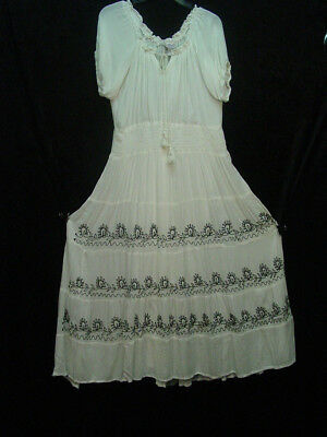 Chemise Corset undercover Dress Victorian Vintage Peasant Styling one size L/XL