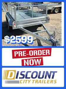 TANDEM TRAILER CAGED BRAKE GALVANISED FULL CHECKER FLOOR & WALLS Campbelltown Campbelltown Area Preview