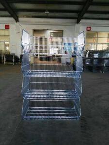 Wire Stacking Basket Shop Retail Crisp Display Shelving Storage Warehouse Rack