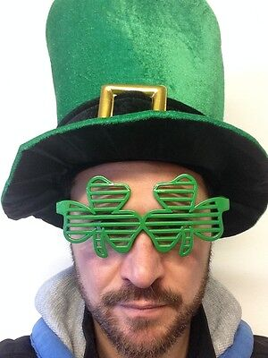 Shamrock Sunglasses St Patricks Day Ireland Glasses Rugby Fancy Party Football