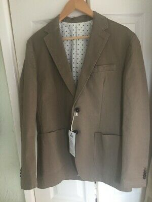 Used, Mens Smart jacket Blazer JACK & JONES Brand Dark Beige UK 40R  Fully Lined for sale  Shipping to Ireland