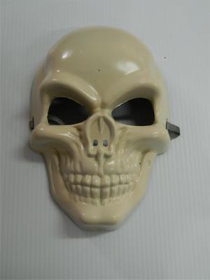 HALLOWEEN HORROR PROP - Modified painted White Skull Mask PVC - Painting Halloween Props