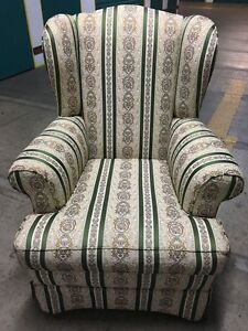AS NEW: Gorgeous Wing Back Fabric Armchair - SUPERB CONDITION Artarmon Willoughby Area Preview