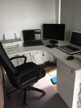 Large corner desk with chair Burwood Burwood Area Preview
