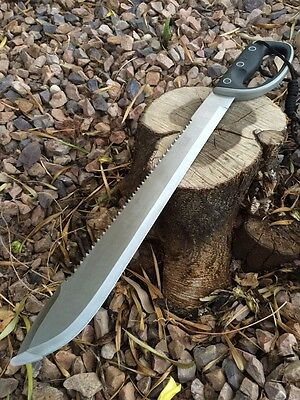 """24""""Jungle Machete,Outdoor,Camping, Survival Fixed Blade Knife Saw back"""