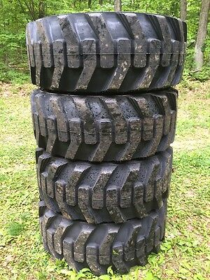 4 New Galaxy Xd2010 12-16.5 Skid Steer Tires For Bobcat Others 12x16.5 -12 Ply