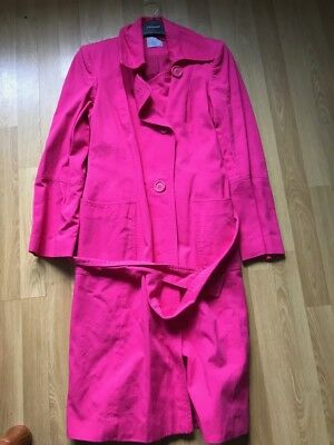 Used, OASIS Hot Pink MAC Trench Coat Size 10 for sale  Ireland