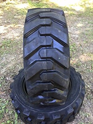 2-27x8.50-15 Hd Skid Steer Tires-27-8.50-15-solideal Xtra Wall-for Case More