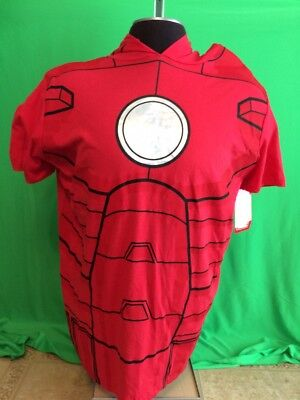 Iron Man T-Shirt Costume Character Hoodie Men's 2XL Marvel Licensed (Marvel Characters Costumes)