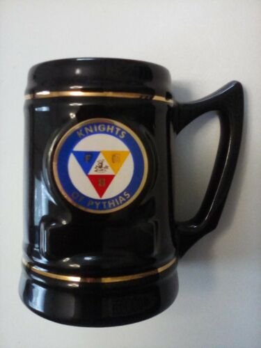 Knights of Pythias, Navy Blue Stein with Seal and Name Plate Area