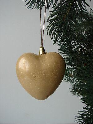 Weihnachten Christbaumschmuck Herz Aufhänger 70mm cream 12 Stück neu in OVP (Herzstück Baum)