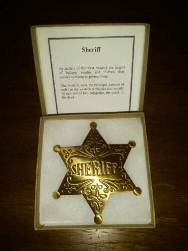 Sheriff Dress Badge  Brass --Replica