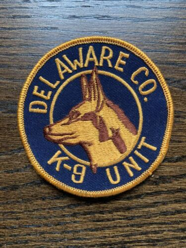 RETIRED Obsolete Delaware County Pennsylvania PA K-9 Unit Police patch dog