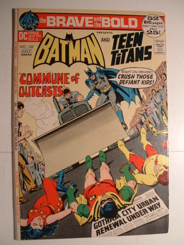 Brave and the Bold #102 - DC 1972 - Amazing What Can Fit in a Utility Belt!