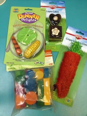 Assorted Chews Toys and Snacks for Small Animals, Exotics, and Birds! (Exotic Bird Food)