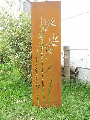 Gartenwand sichtschutz wand diptychon baum stahl rost - Sichtschutz baum ...